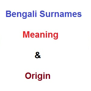 Bengali Surnames with Meaning and Origin: Babynamescube
